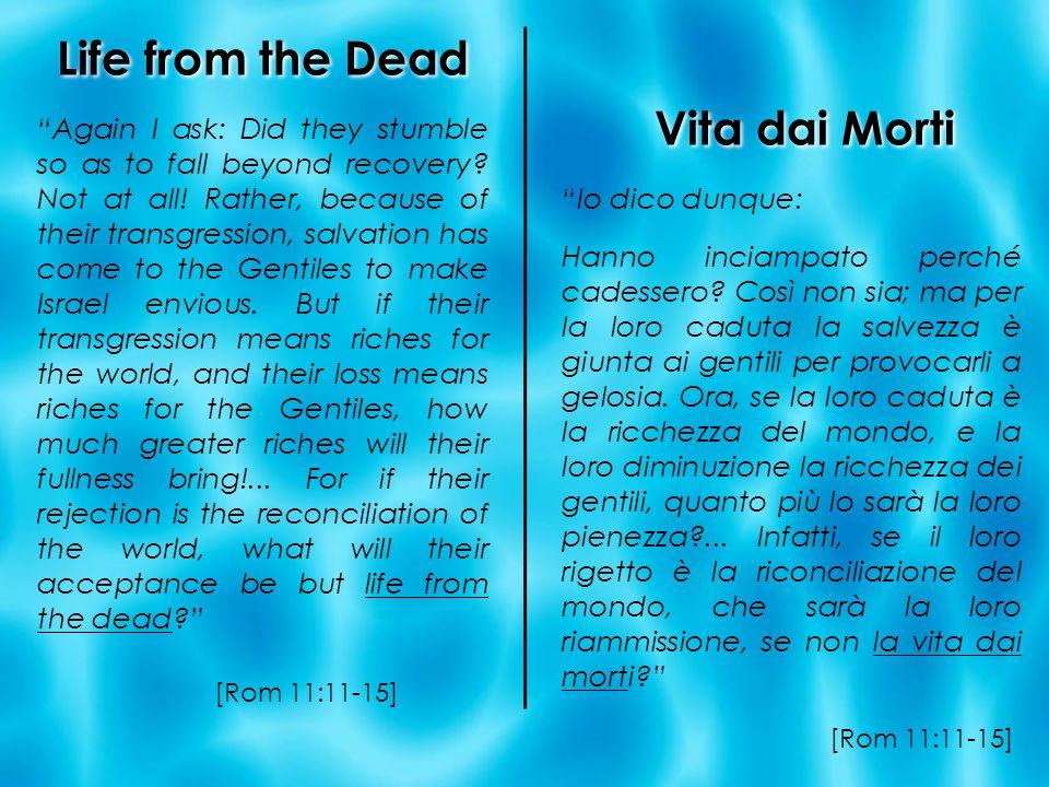 Life from the Dead Vita dai Morti