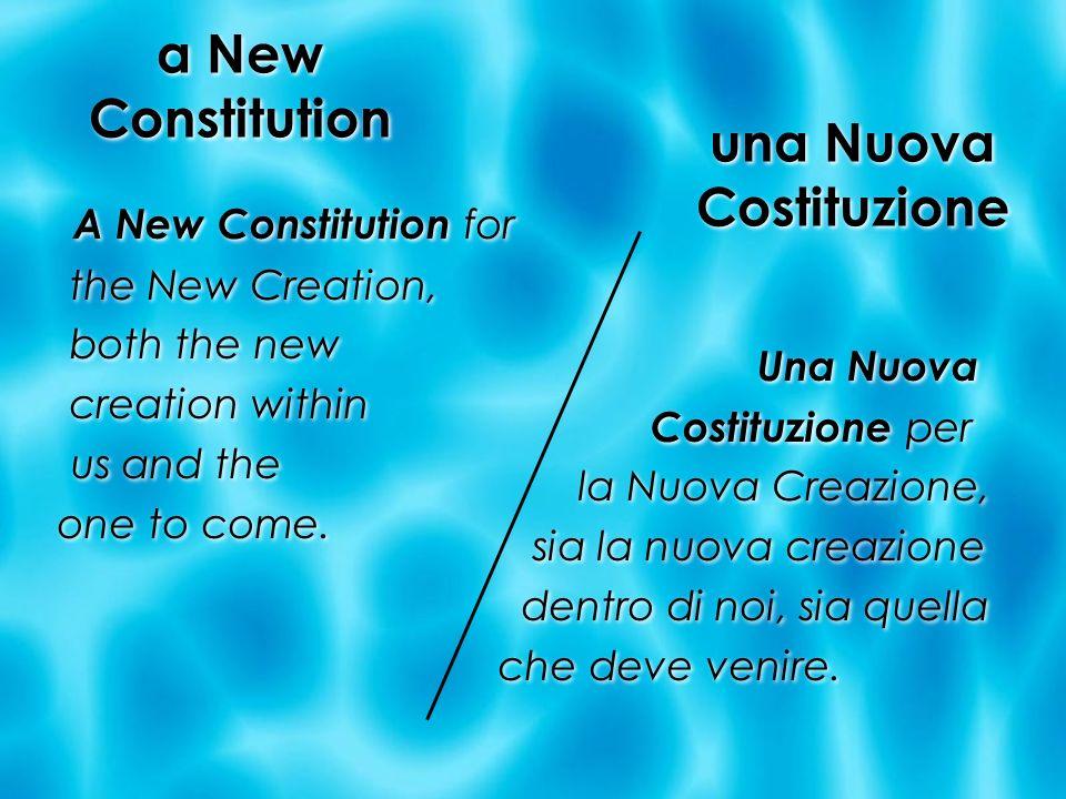 una Nuova Costituzione