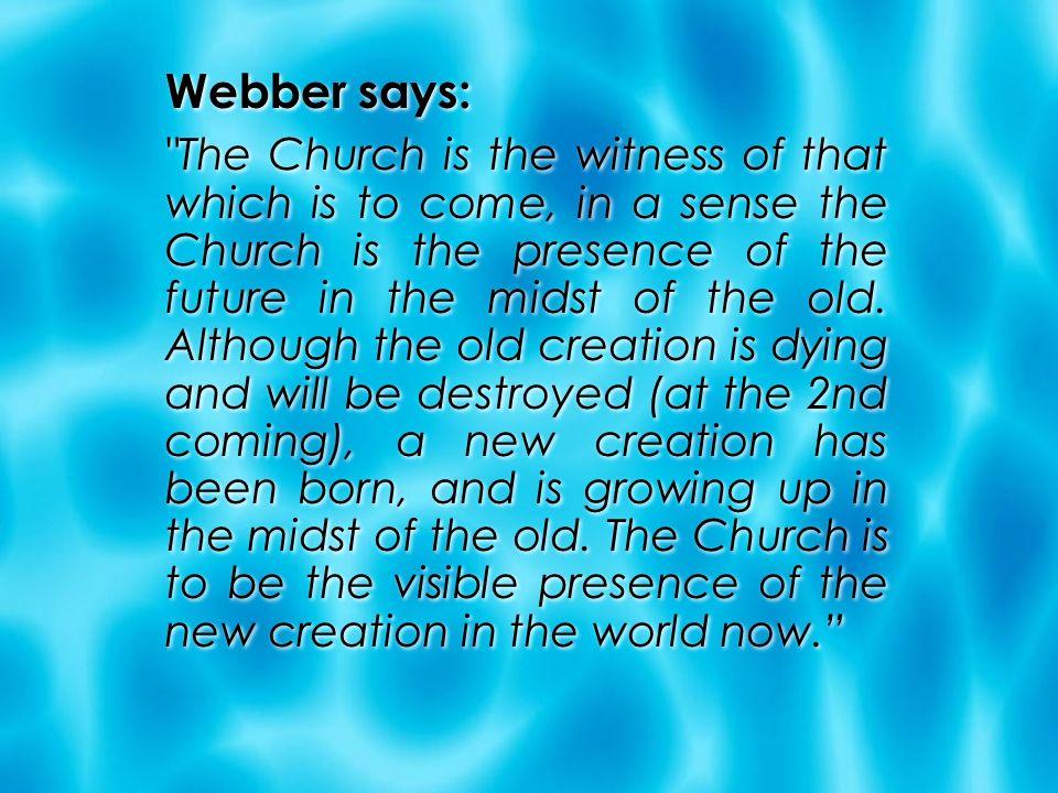 Webber says:
