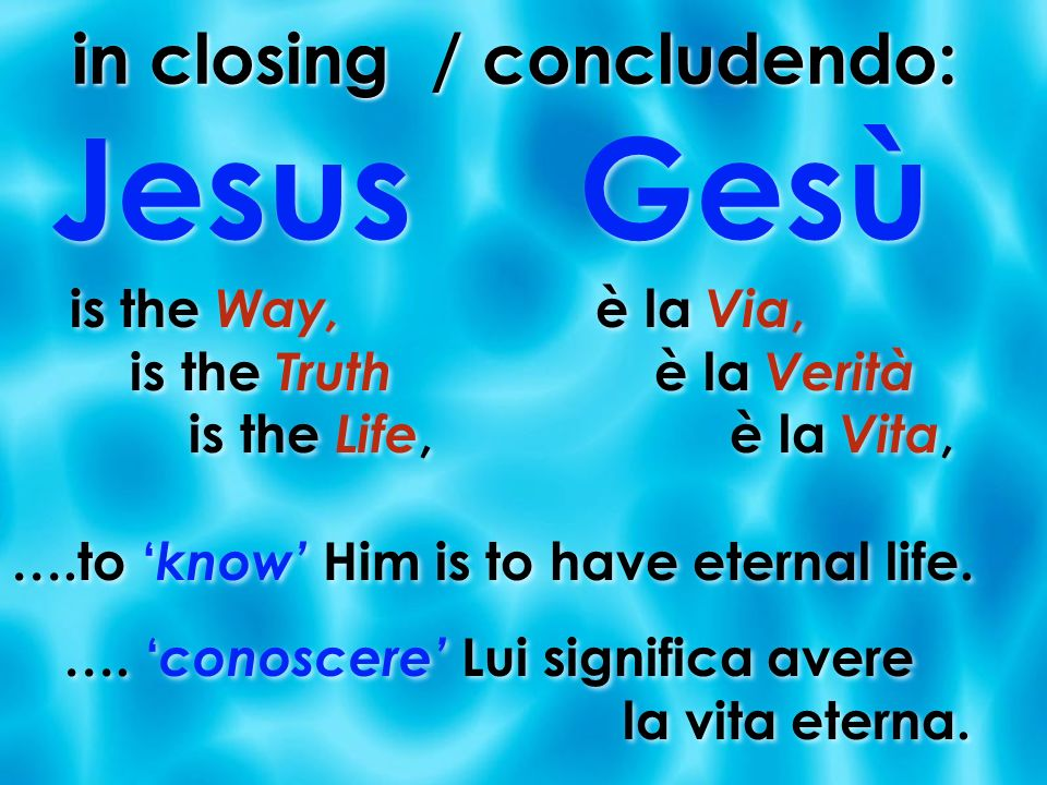 in closing / concludendo:
