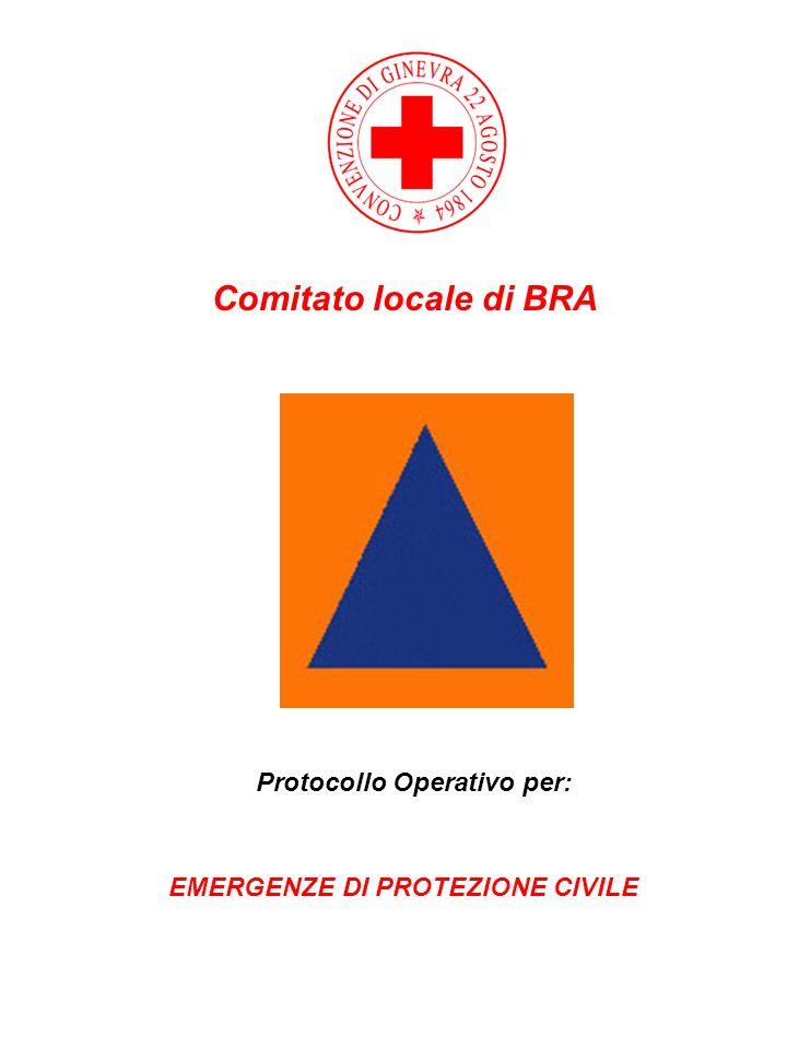Protocollo Operativo per: EMERGENZE DI PROTEZIONE CIVILE
