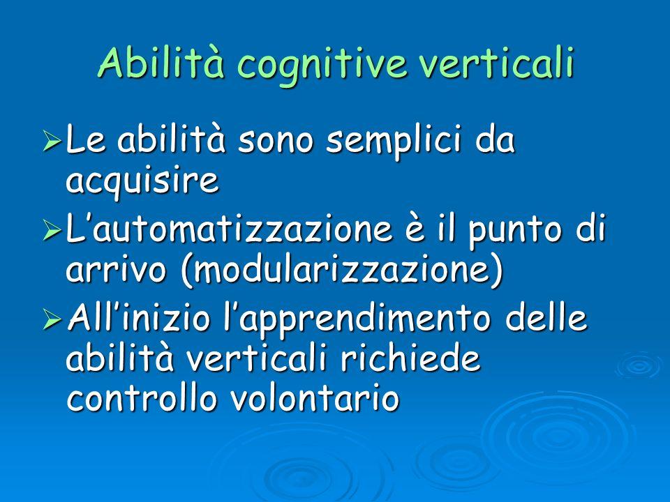 Abilità cognitive verticali