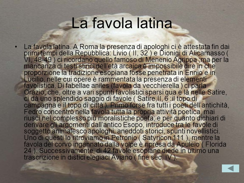 La favola latina