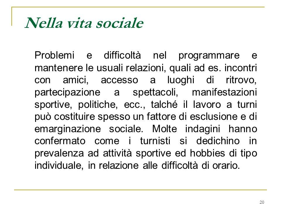 Nella vita sociale