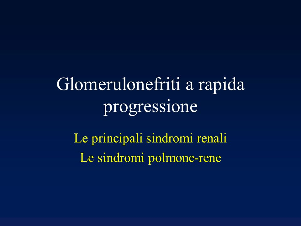 Glomerulonefriti a rapida progressione