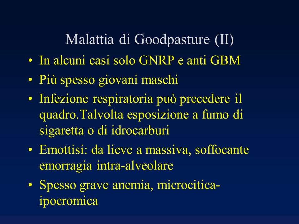 Malattia di Goodpasture (II)