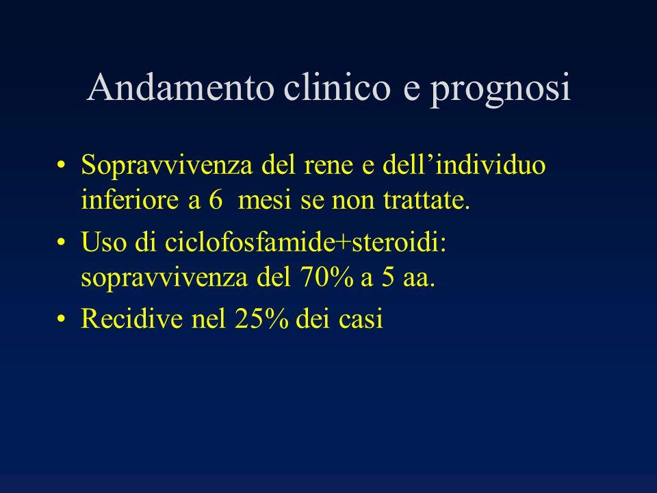 Andamento clinico e prognosi