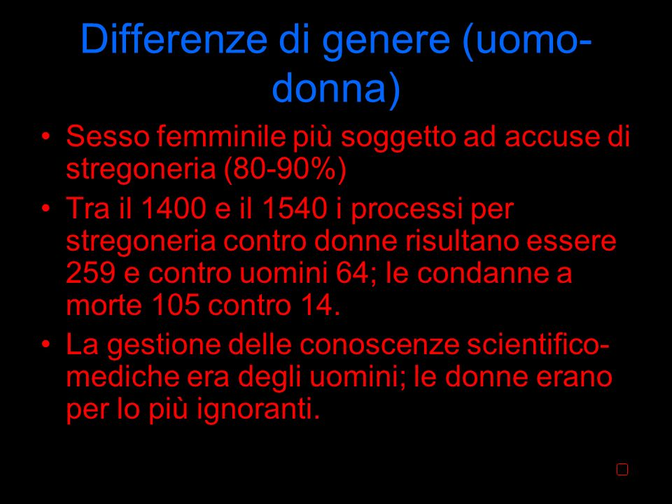 Differenze di genere (uomo-donna)