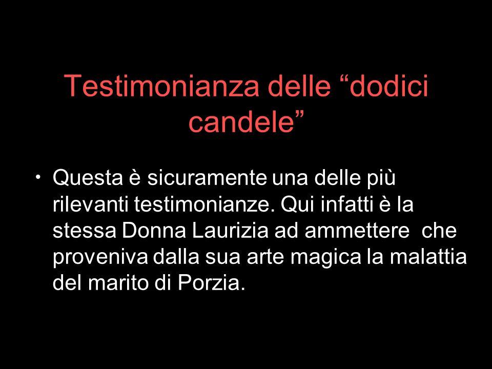 Testimonianza delle dodici candele