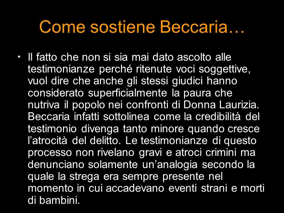 Come sostiene Beccaria…
