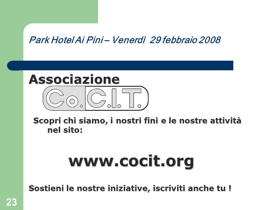 www.cocit.org Associazione