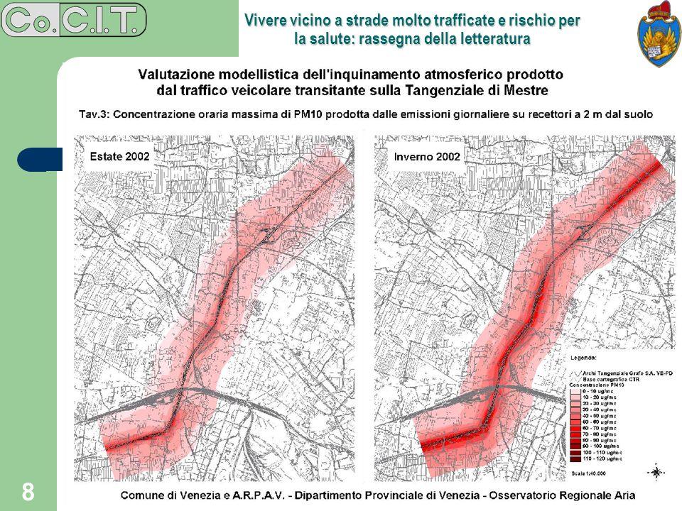 Vivere vicino a strade molto trafficate e rischio per la salute: rassegna della letteratura