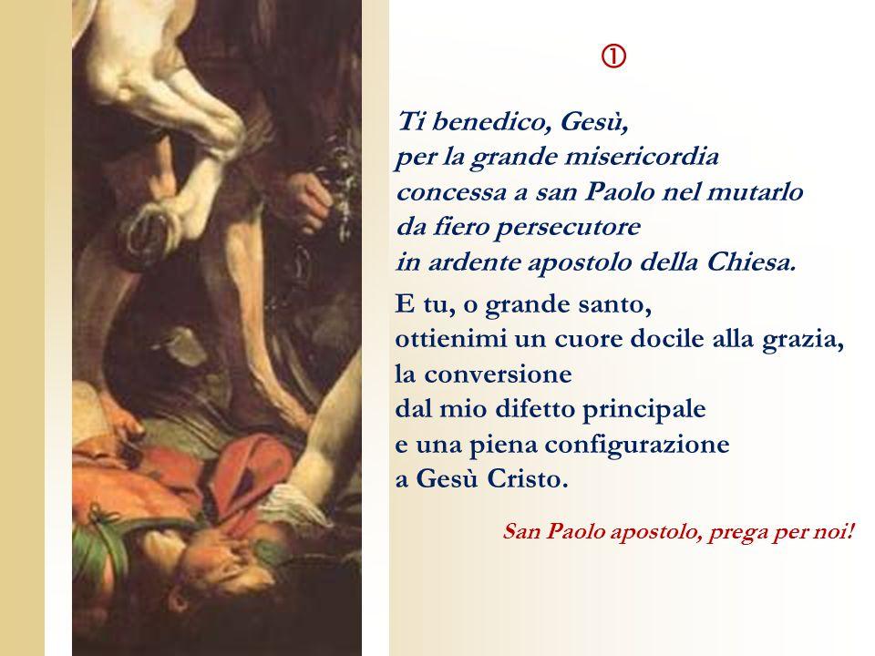  Ti benedico, Gesù, per la grande misericordia