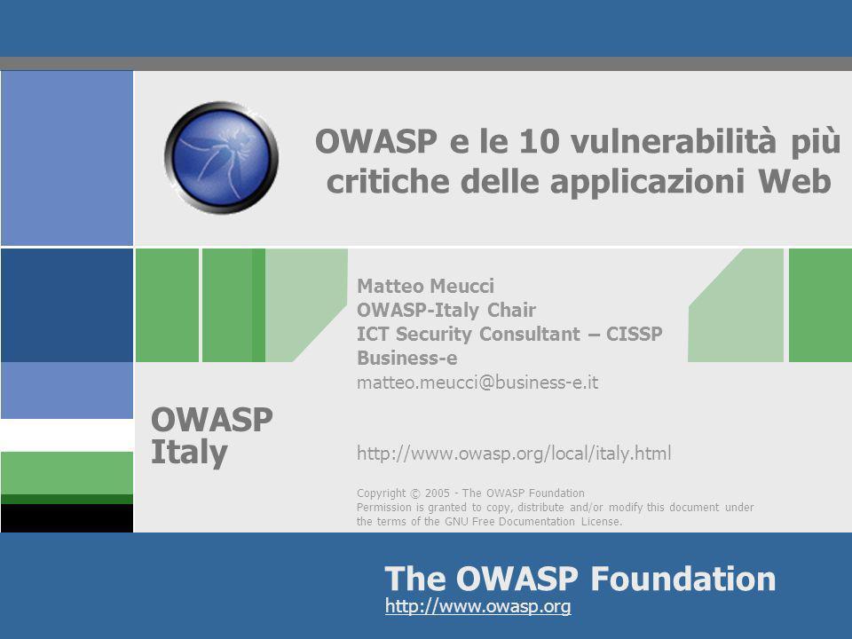 OWASP e le 10 vulnerabilità più critiche delle applicazioni Web