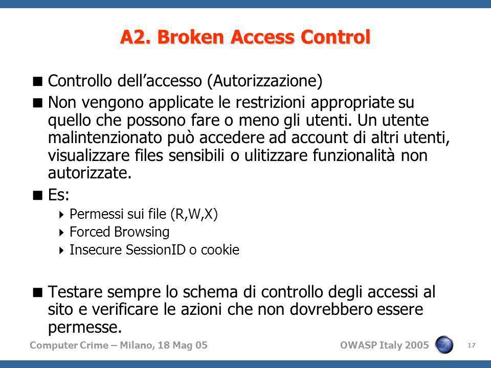 A2. Broken Access Control