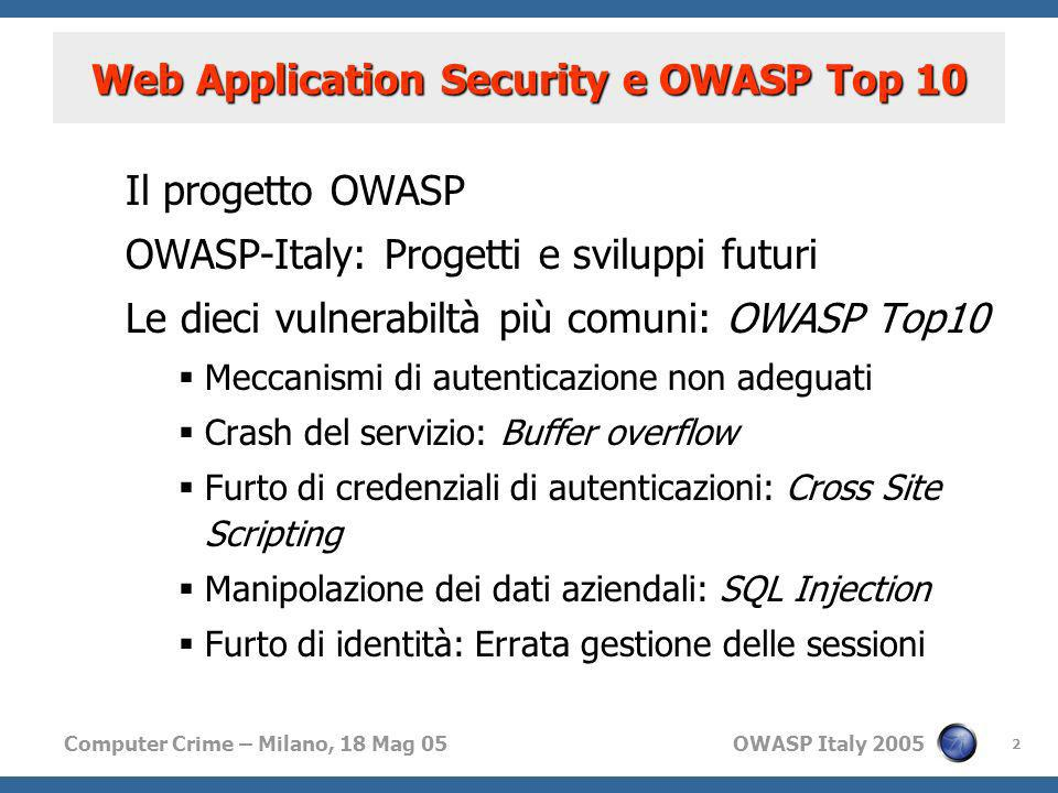 Web Application Security e OWASP Top 10