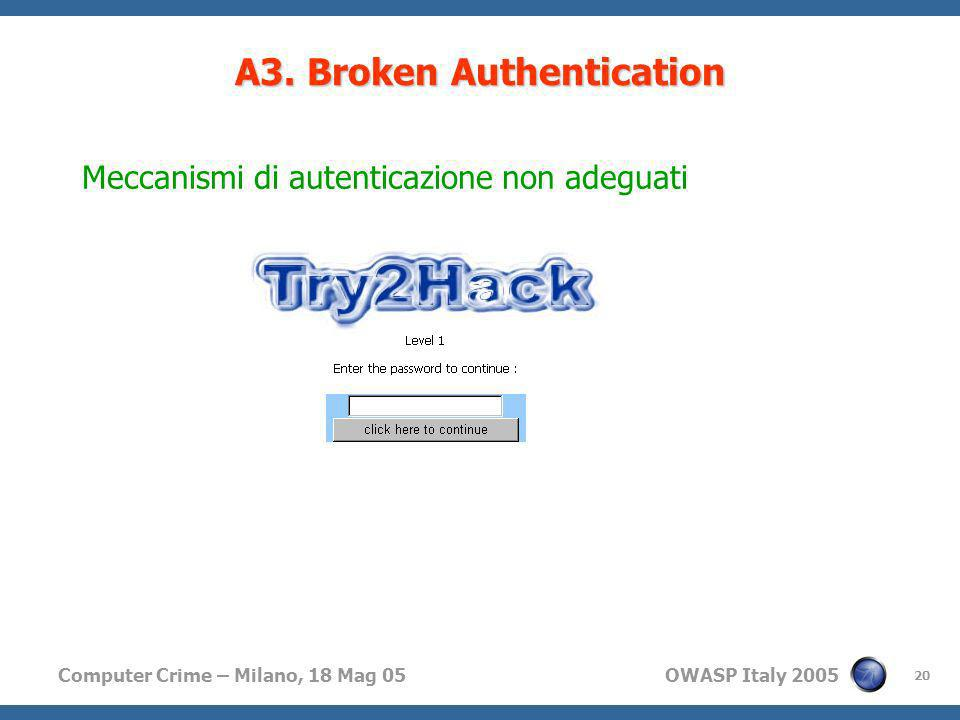A3. Broken Authentication