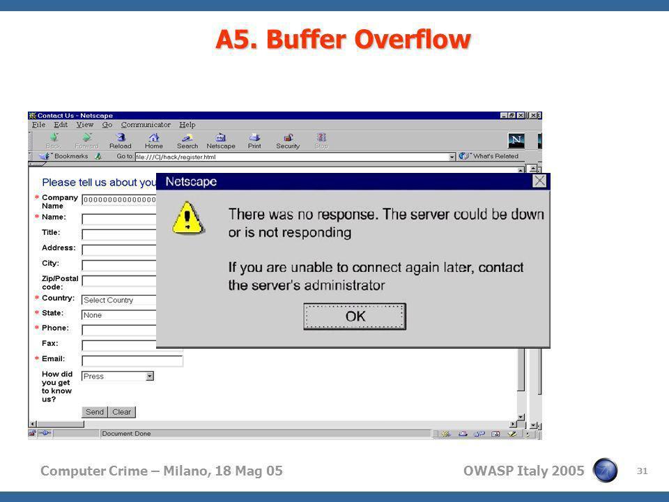 A5. Buffer Overflow