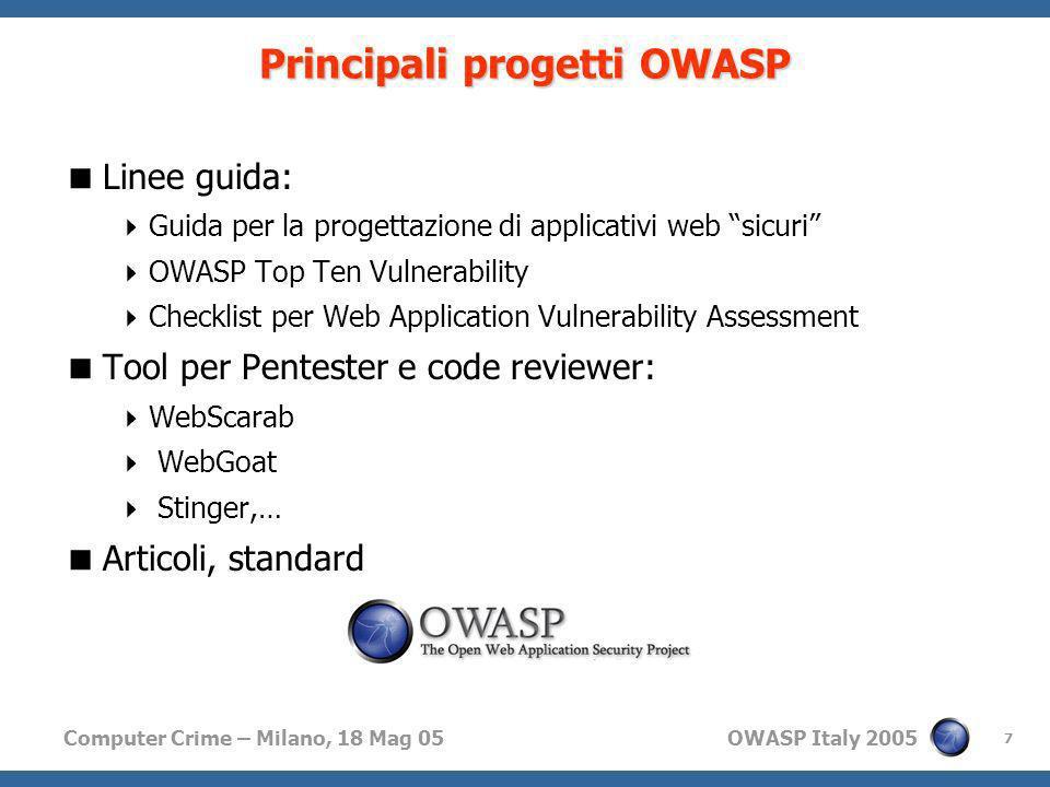 Principali progetti OWASP