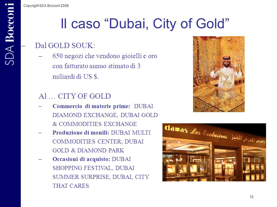 Il caso Dubai, City of Gold