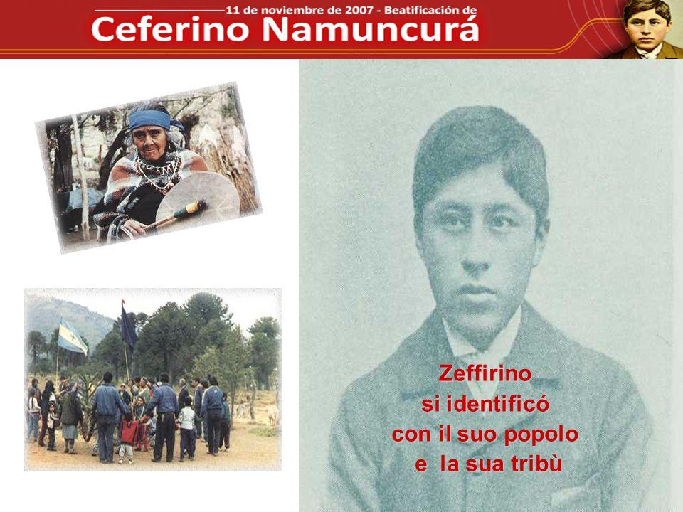 Zeffirino si identificó con il suo popolo e la sua tribù