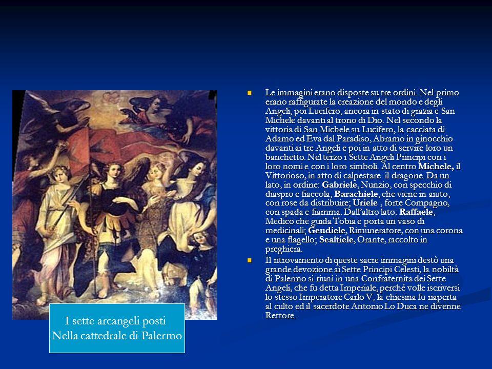 I sette arcangeli posti Nella cattedrale di Palermo