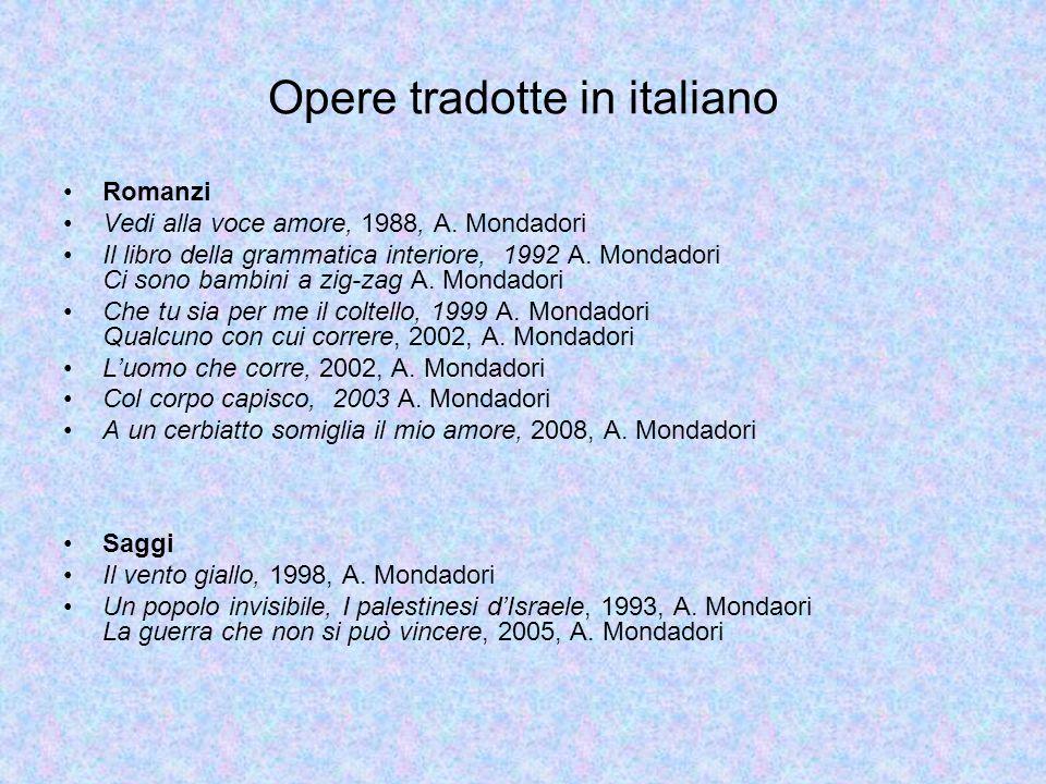 Opere tradotte in italiano