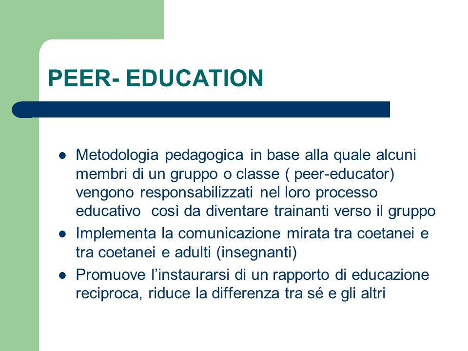 PEER- EDUCATION