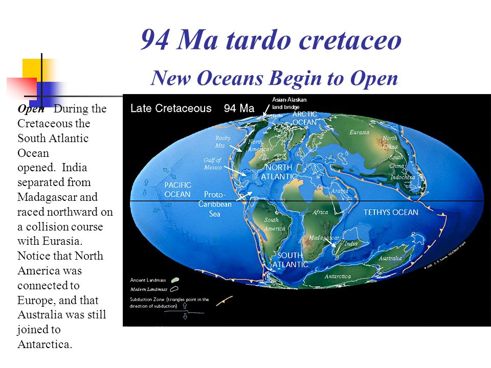 94 Ma tardo cretaceo New Oceans Begin to Open