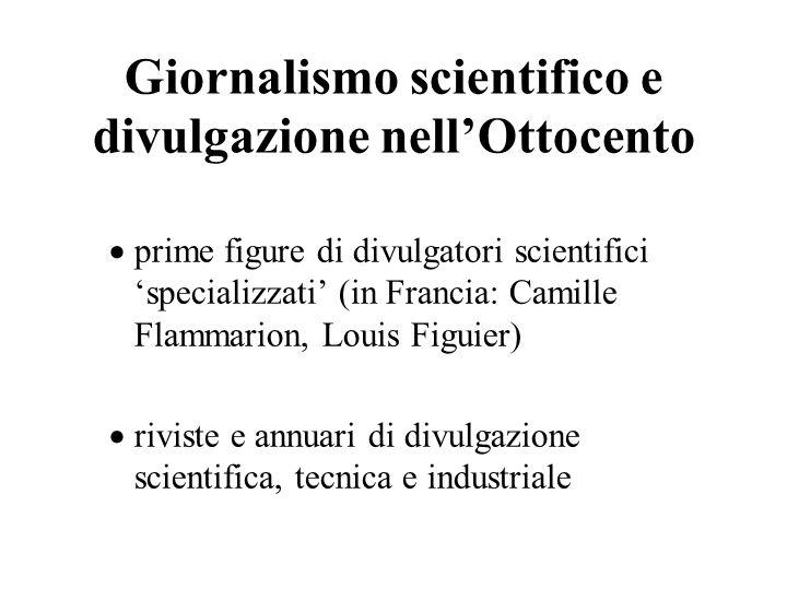 Giornalismo scientifico e divulgazione nell'Ottocento