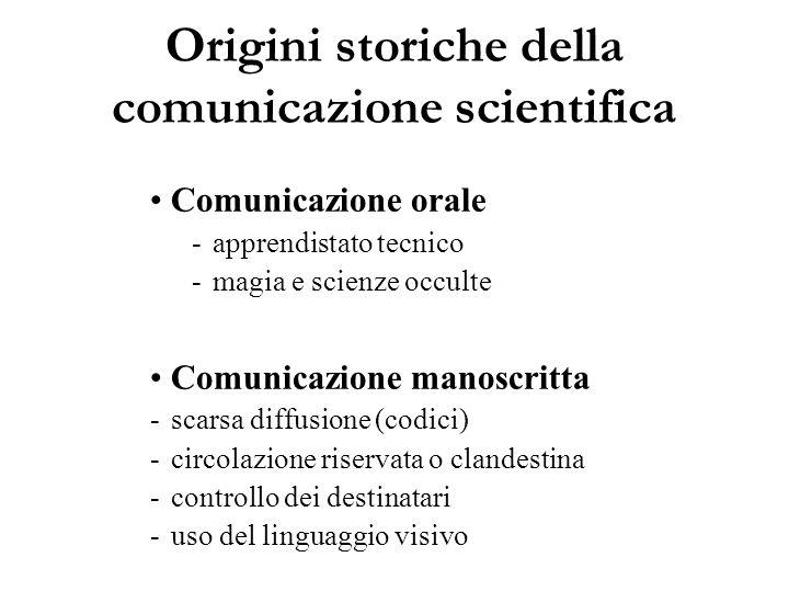 Origini storiche della comunicazione scientifica