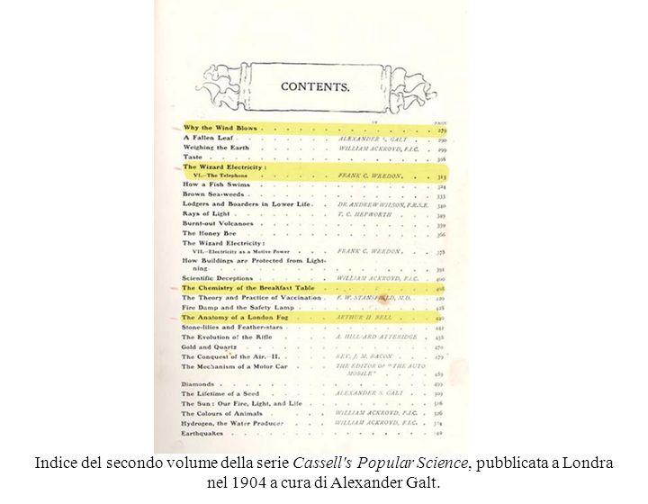nel 1904 a cura di Alexander Galt.