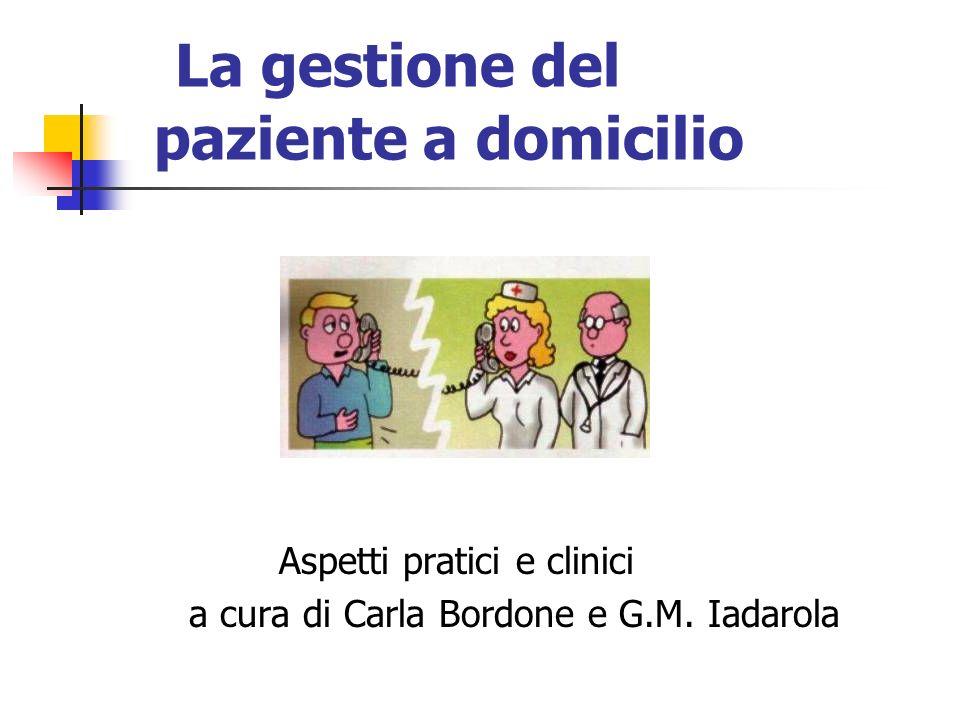 La gestione del paziente a domicilio