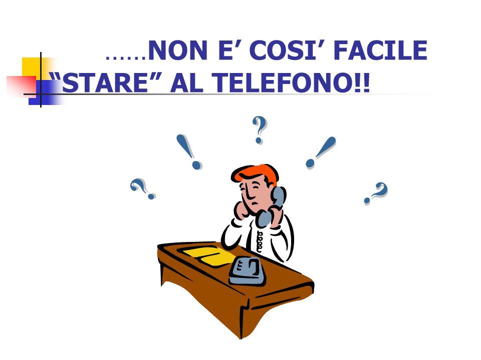 ……NON E' COSI' FACILE STARE AL TELEFONO!!