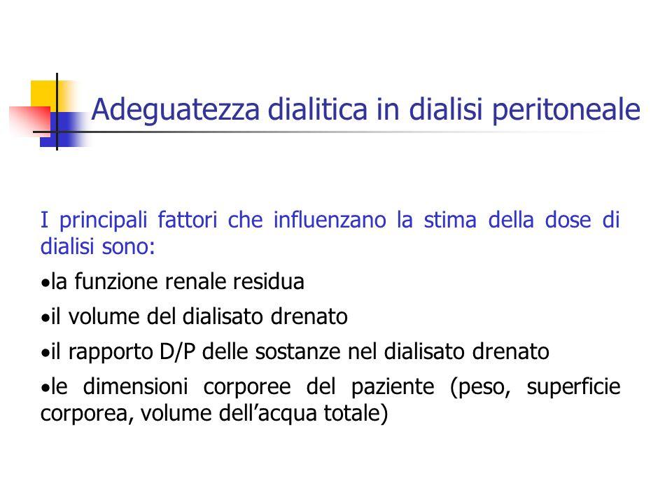Adeguatezza dialitica in dialisi peritoneale