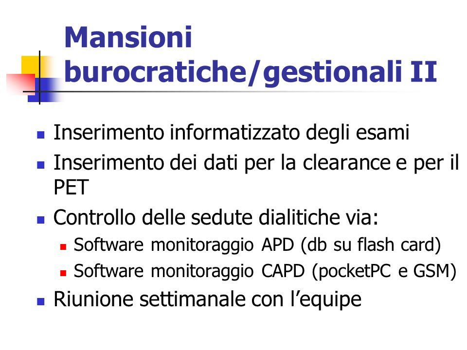 Mansioni burocratiche/gestionali II