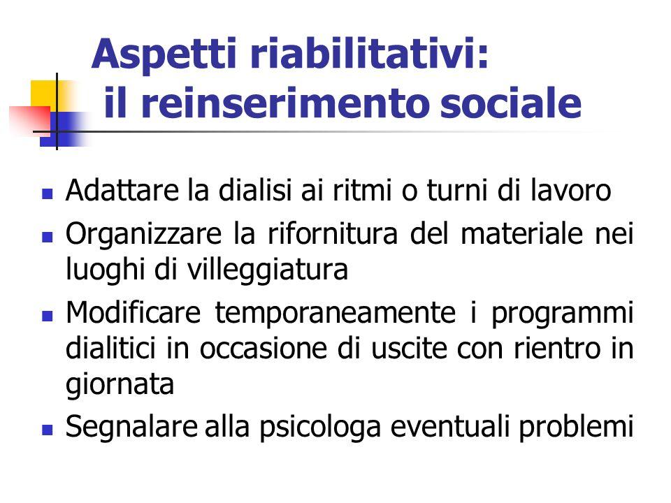 Aspetti riabilitativi: il reinserimento sociale