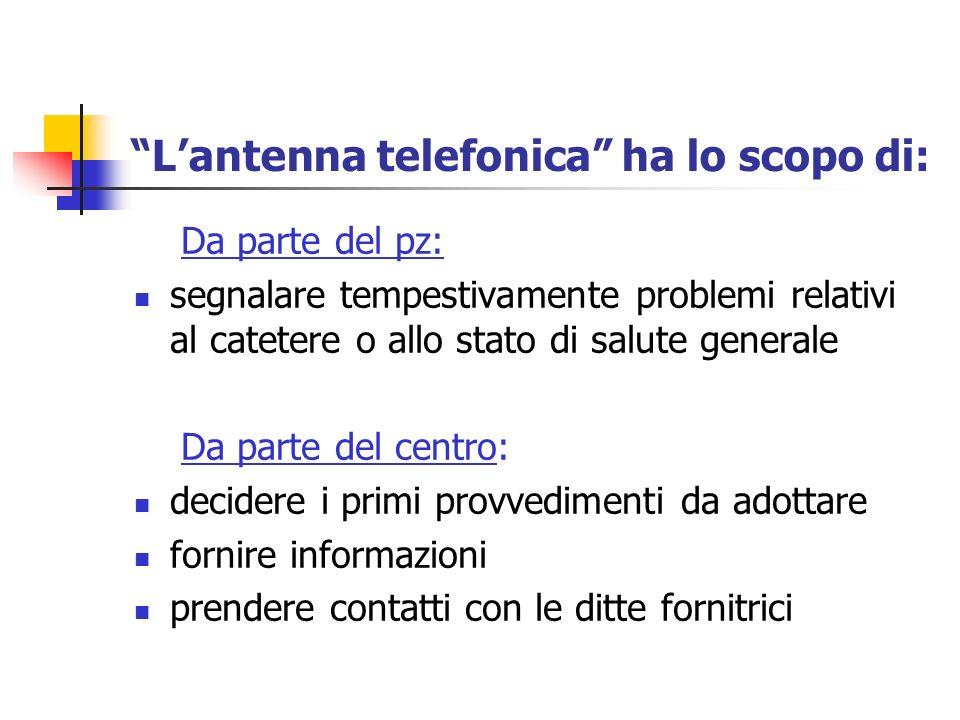 L'antenna telefonica ha lo scopo di: