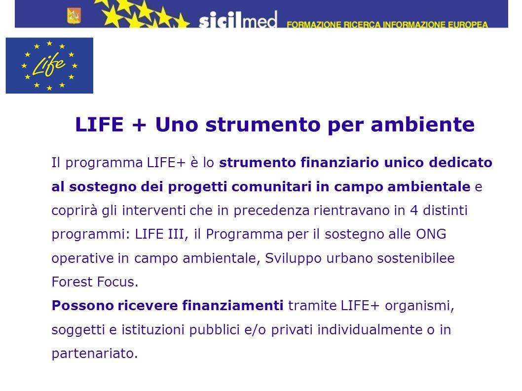 LIFE + Uno strumento per ambiente