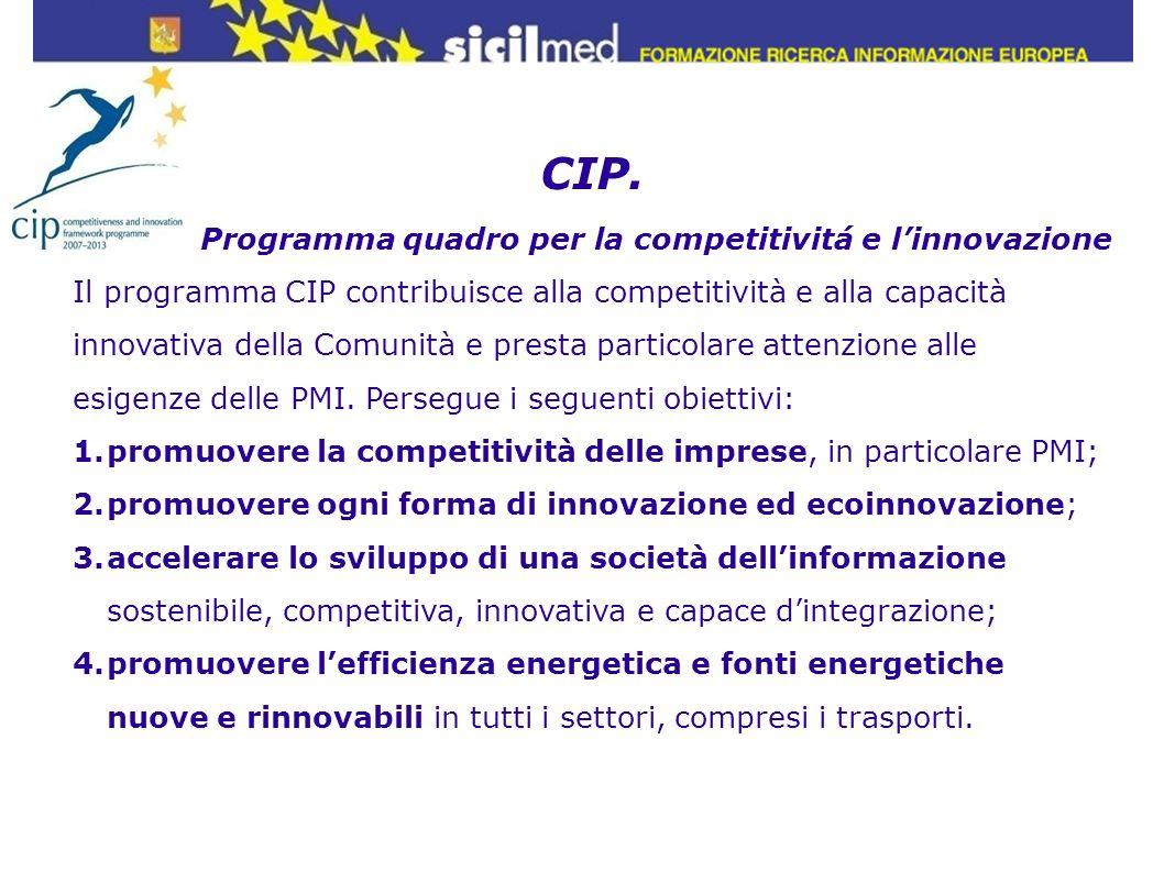 CIP. Programma quadro per la competitivitá e l'innovazione