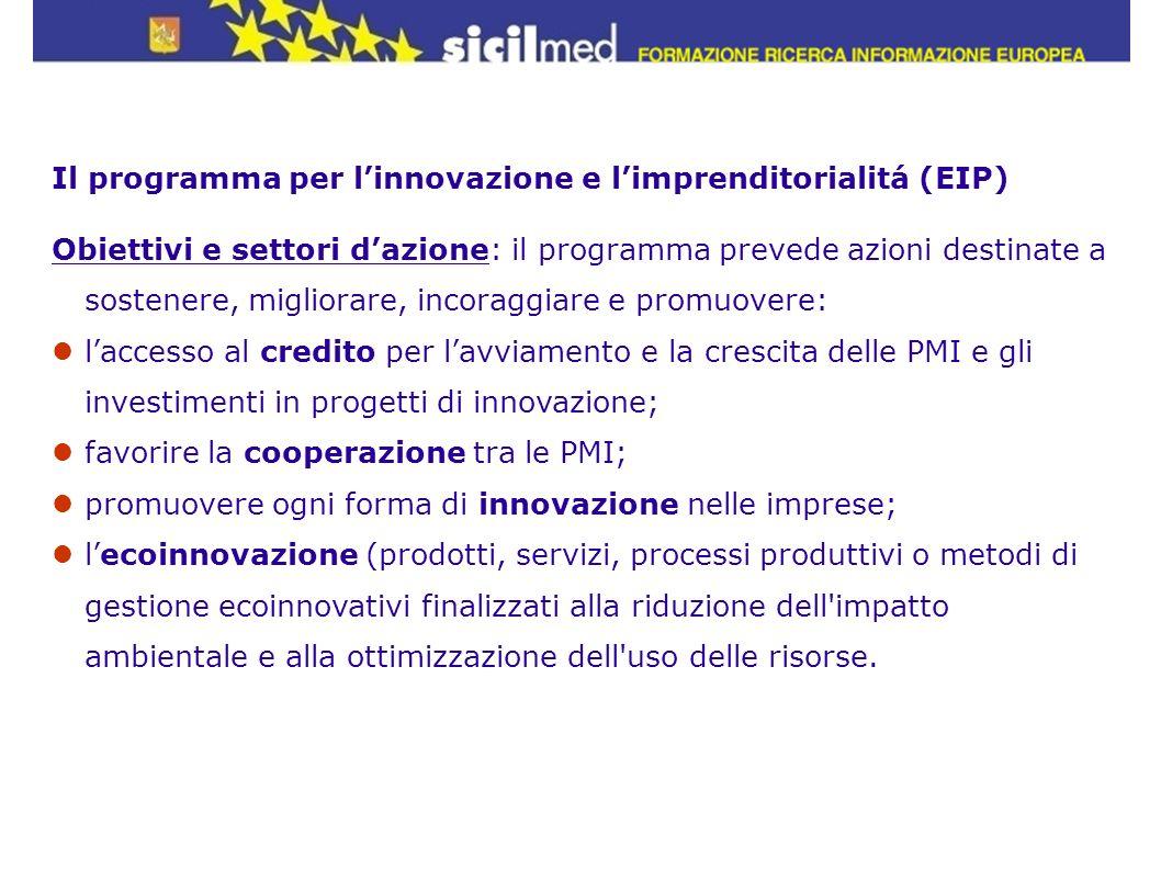 Il programma per l'innovazione e l'imprenditorialitá (EIP)