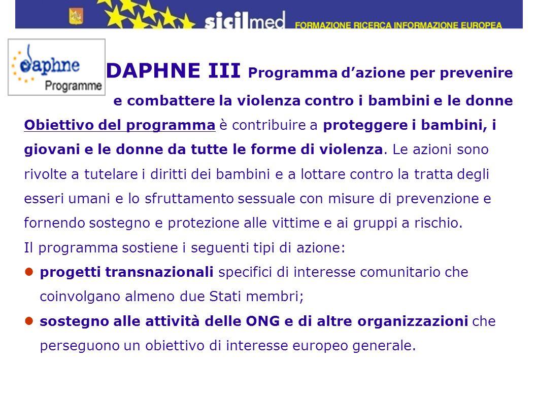 DAPHNE III Programma d'azione per prevenire