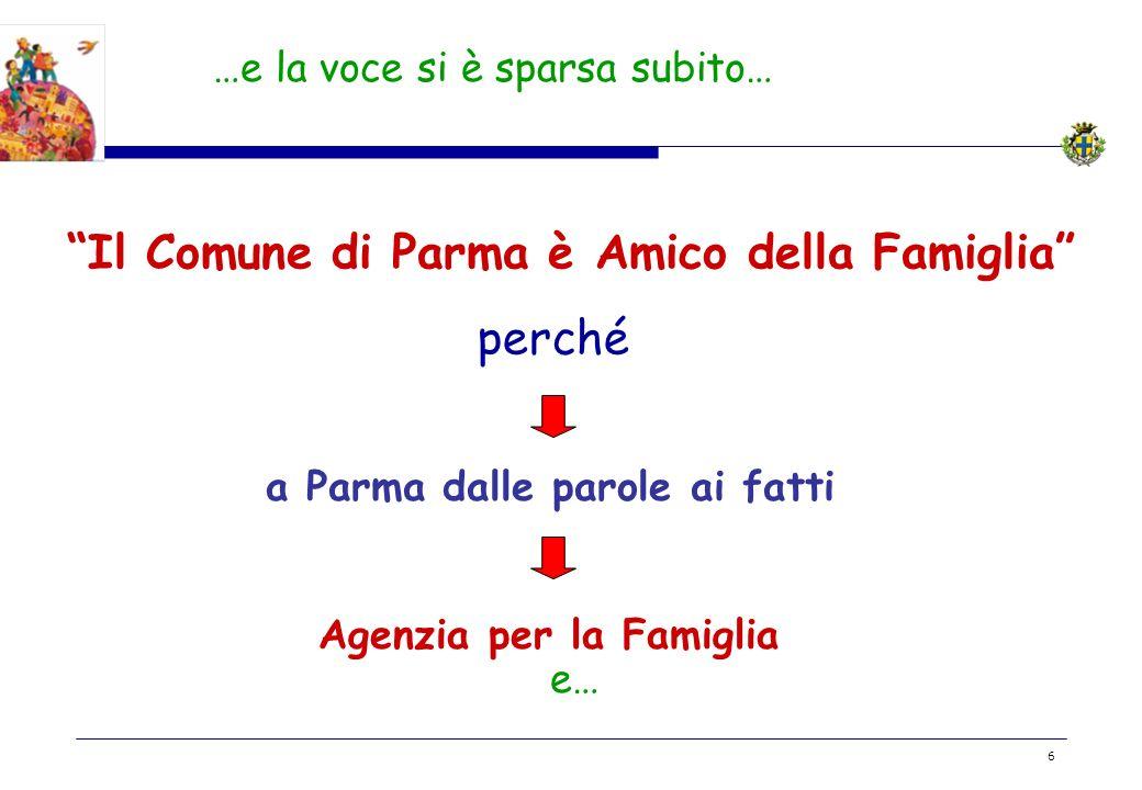 Il Comune di Parma è Amico della Famiglia