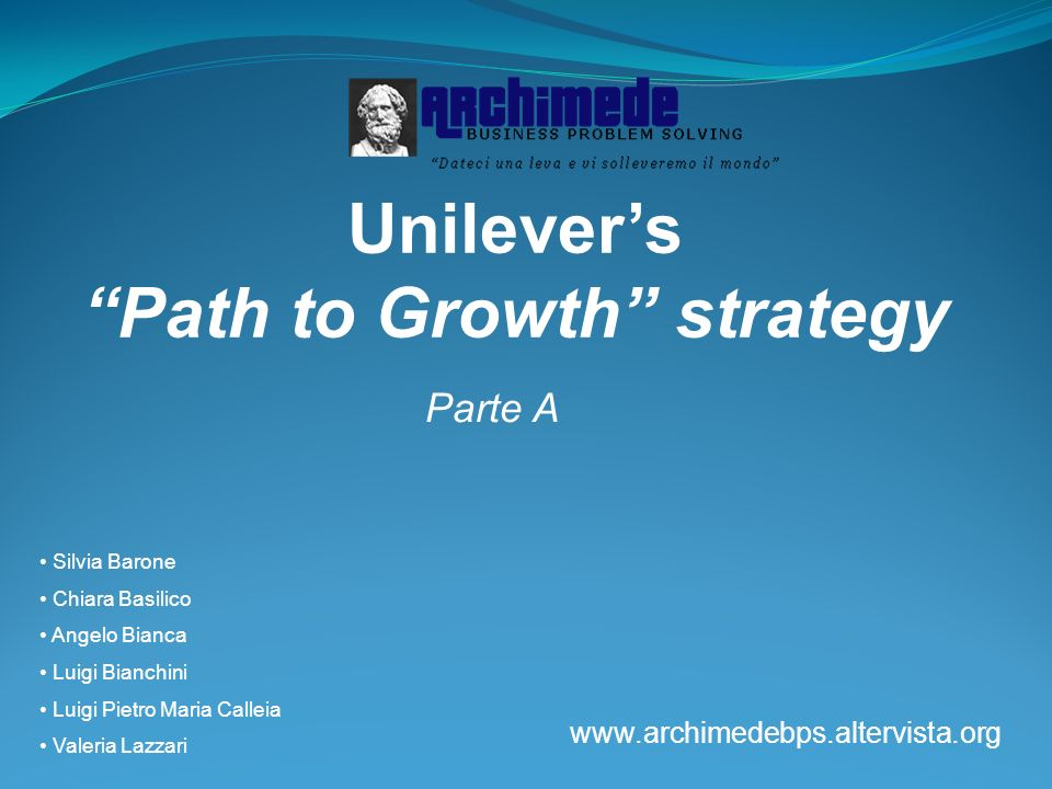 Unilever's Path to Growth strategy