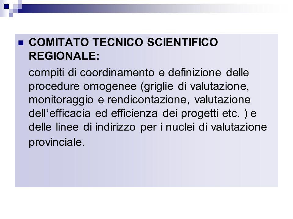 COMITATO TECNICO SCIENTIFICO REGIONALE: