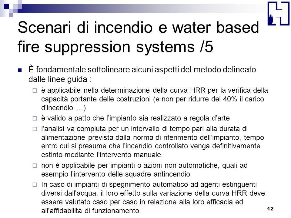 Scenari di incendio e water based fire suppression systems /5