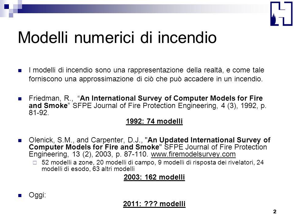 Modelli numerici di incendio