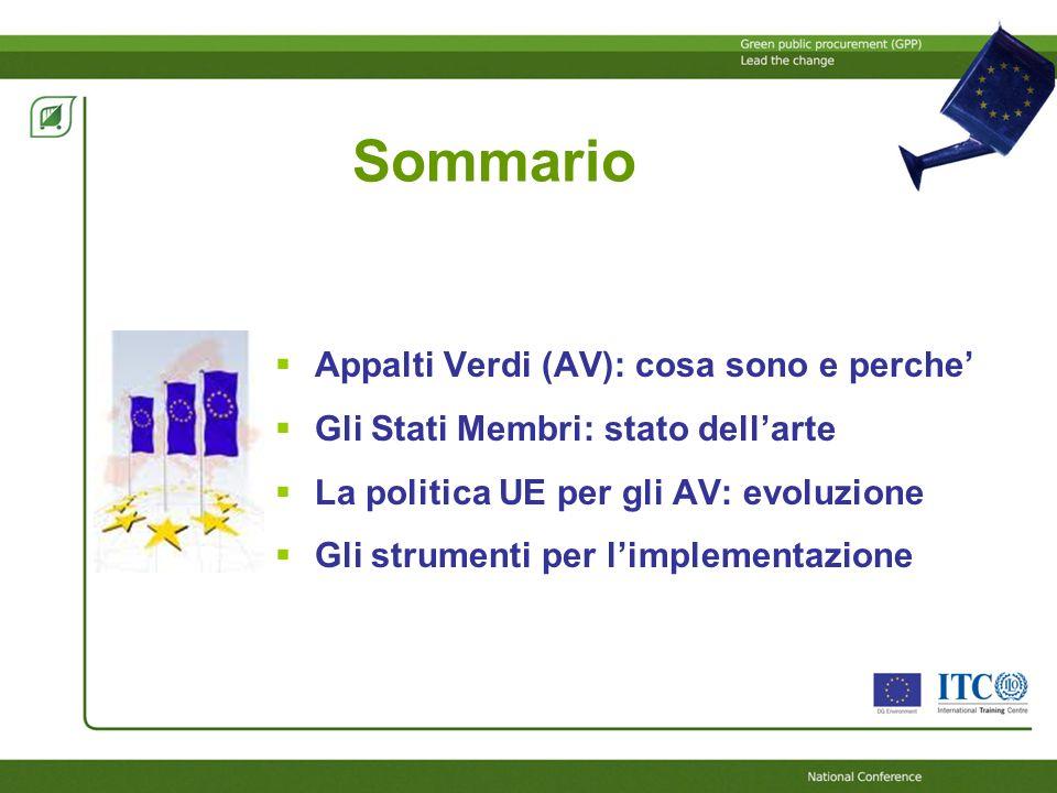 Sommario Appalti Verdi (AV): cosa sono e perche'
