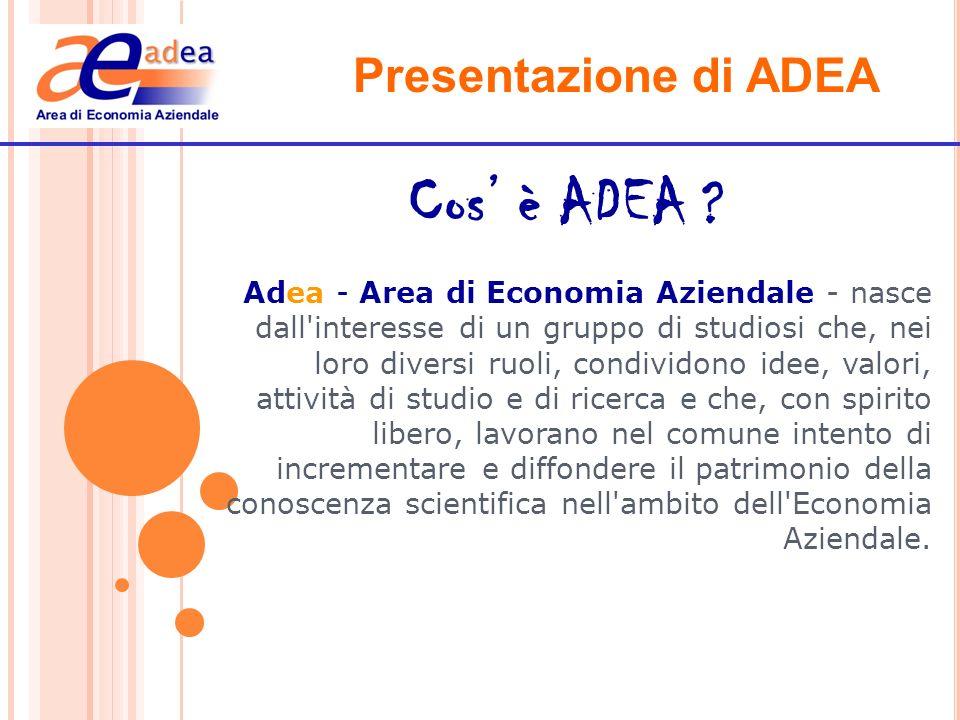 Cos' è ADEA Presentazione di ADEA